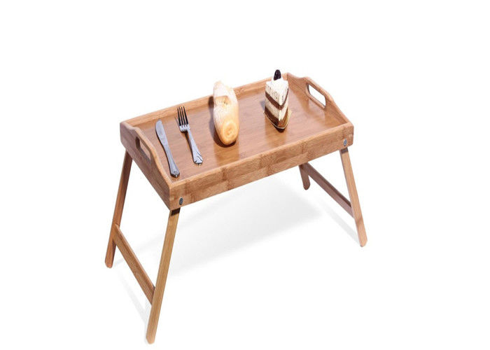 Rectangular Extra Large Organic Bamboo Serving Tray with Legs