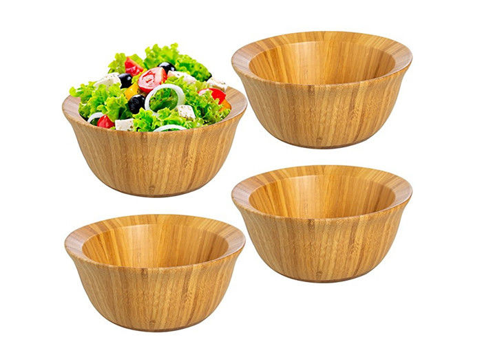 Set of Four FDA Approval Large Organic Bamboo Salad Set Wholesale