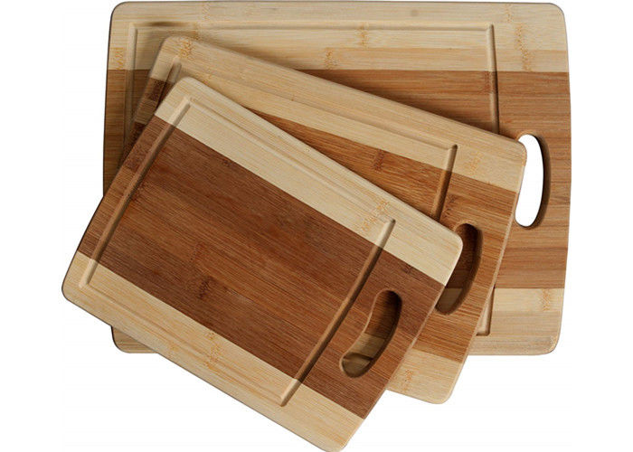 Stylish Design Bamboo Butcher Block Cutting Board With Juice Groove And Handle