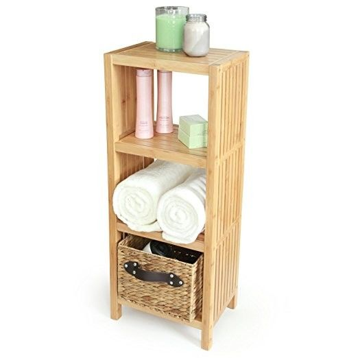 Home Storage Bamboo Racks And Holders 4 Layer Bamboo Shelf Rack 2-50mm Thickness