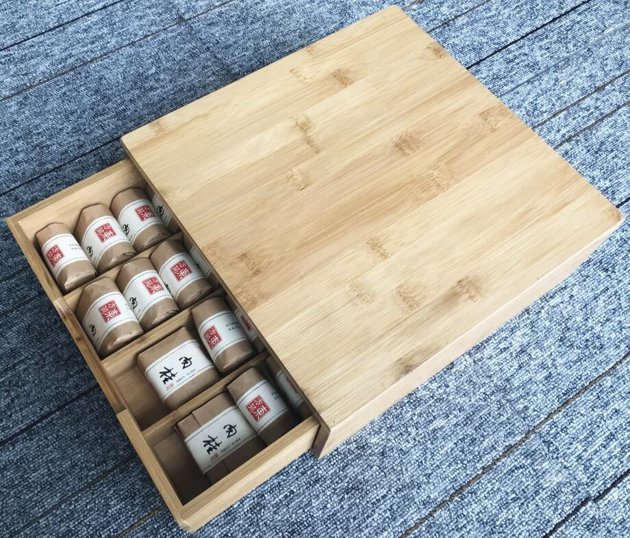 Bamboo Tabletop Coffee Pod Storage Drawer 8 Compartments Non - Fragile Waterproof